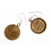 Bezel Handmade Earring Round 19x2mm Antique Brass